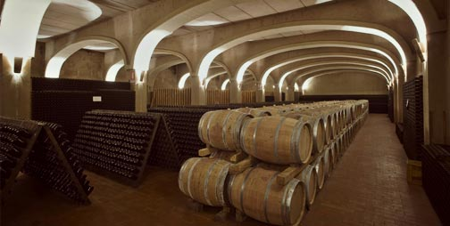 The new ageing cellar was opened
