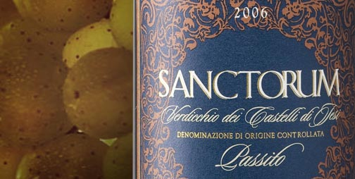 The Verdicchio Passito Sanctorum was produced